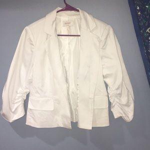 Laundry By Shelli Segal White Cropped Blazer